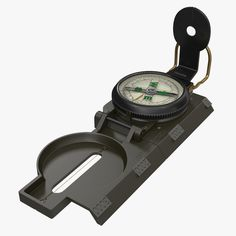 Army Pocket Multifunction Compass 3D Model - 3D Model