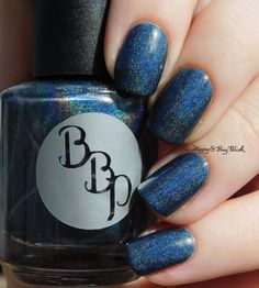 Bad Bitch Polish Poseidon holographic   Be Happy And Buy Polish https://behappyandbuypolish.com/2017/04/11/bad-bitch-polish-love-your-planet-nail-polish-collection-swatches-review/