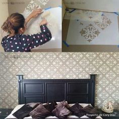 1000 images about aprende paso a paso a decorar paredes con plantillas on pinterest stencils Aprender a pintar paredes