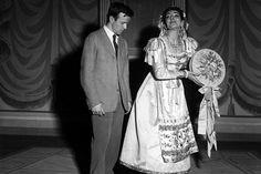 Maria Callas con Franco Zeffirelli (Il Turco - 1955)