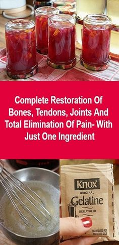 Complete Restoration Of Bones, Tendons, Joints And Total Elimination Of Pain- With Just One Ingredient