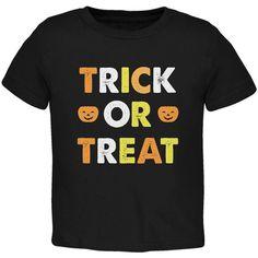 Halloween Trick Or Treat Black Toddler T-Shirt