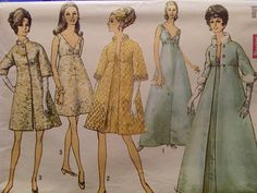 Simplicity Pattern No.8454 Misses' Evening Dress And Coat In Two Lengths