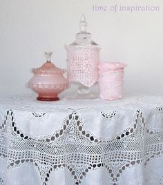 different ways to dressing jars  invaded by pink