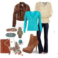 Love the layers and colors... and the boots... and accessories... :)