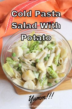 Cold Pasta salad with potatoes is an Italian salad made with penne pasta, baby potatoes, green peas, lettuce and mayo. This easy and healthy pasta salad recipe with potato is a perfect side dish on the lunch or dinner buffet table. Make this loaded potato pasta salad during the summer or during any time when you feel like eating salads. Cold salad recipes are everyone's favorite.
