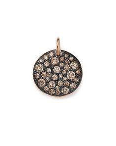 POMELLATO Sabbia Diamond & Sapphire Pendant in 18K White Gold lD0p0b