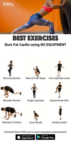 Burn Fat using NO Equipment