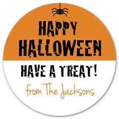 personalized Halloween treats