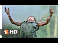 Platoon - The Death of Sgt. Elias: Chris (Charlie Sheen) and the other soldiers watch helplessly from the helicopter as the wounded Elias (Willem Dafoe) is g. Best Action Movies, Action Film, Great Movies, We Movie, Movie List, Patriotic Movies, Tom Berenger, Oscar Winning Films, Psychological Horror
