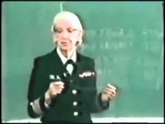 Amazing Grace Demonstrates the Nanosecond - Rear Admiral Grace Murray Hopper (December 9, 1906 – January 1, 1992) was an American computer scientist and United States Navy officer.