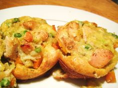 Mini Chicken Pot Pies - Jillian's Kitchen -worth a try!  maybe freeze for work lunches.