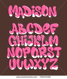 Graffiti Alphabet Styles, Graffiti Lettering, Creative Lettering, Cool Lettering, Hand Lettering Alphabet, Typography Letters, Ice Cream Font, Tattoo Lettering Styles, Bubble Letters
