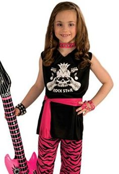 Rock Star Girl Child Costume Medium Tag a friend who would look good in this! #RockStar #Halloween #Costume