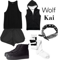 """Outfit inspired by: Kai in Exo's """"Wolf"""" MV. Link: http://www.polyvore.com/cgi/set?id=92541549&.locale=pl Requested by: youknowright Please send your requests! Another Wolf's outfits: Sehun, D.O, Chanyeol, Kai, Suho, Baekhyun  Kris, Luhan, Tao, Xiumin, Lay, Chen"""
