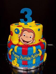 Curious George Curious George Cakes, Curious George Party, Curious George Birthday, 1st Birthdays, 3rd Birthday Parties, 2nd Birthday, Birthday Ideas, Character Cakes, Desserts