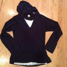 J Crew sweater Blue j crew sweater hoodie with kangaroo pocket. No snags. So comfy! J. Crew Sweaters