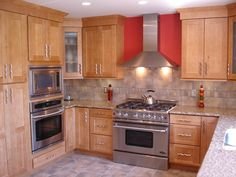 Honey+Maple+Cabinets+with+Granite | , Countertops, & AccessoriesHaas Cabinetry, PlymouthFinish: Maple ...