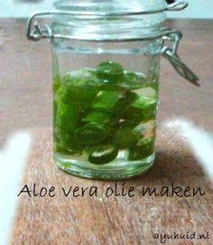 Aloe vera olie maken