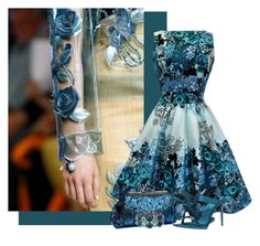 """""""Blue Roses - zzseevw"""" by flowerchild805 ❤ liked on Polyvore featuring Alexander McQueen and Burberry"""