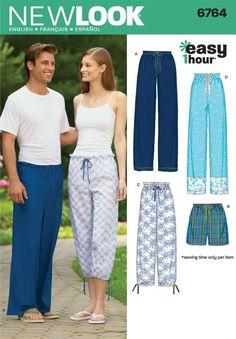 13519aa1fe Look Sewing Pattern Miss Men   Teen Pajama Pants   Shorts Size Xs-Xl 6764