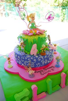 Beautiful Tinkerbell cake!  #tinkerbell #cake