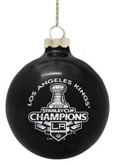 Los Angeles Kings NHL Hockey 2012 Stanley Cup Champions Black Ball Christmas Ornament * Want to know more, click on the image.