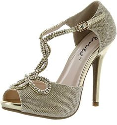 Bonnibel Womens Tiara2 Stiletto Heel Glitter Evening Wedding Promo Sandals ShoesGold8 -- Read more  at the image link. (This is an Amazon affiliate link)
