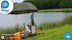 Aire de pêche sur l'étang de Buhel, au téléski nautique de Plessé