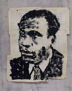 ウィリアム・ケントリッジ、「無題(フランツ・ファノン)、「2016年、グッドマンギャラリー