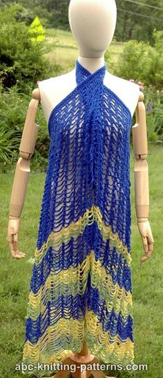Free crochet pattern: Hawaii Beach Cover-Up by ABC Knitting Patterns