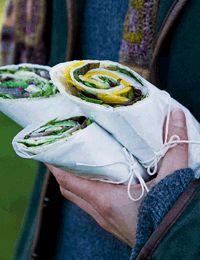 Wraps med rucola og avocado