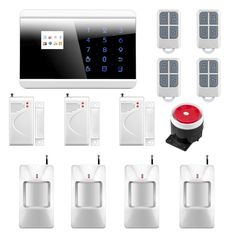 119.08$  Watch here - http://alisgx.shopchina.info/go.php?t=32423331836 - Android iOS APP Control Wireless Zone GSM PSTN Home Alarm System SMS Arm/Disarm Door Contct 8218G  #aliexpresschina