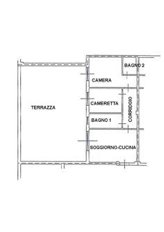http://www.immobiliareballoni.it/vendite/marina-di-massa-appartamento-vendita/ #splendido #appartamento a #marinadimassa con rara terrazza abitabile di 100 mq, con copertura automatizzata. Planimetria