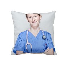 Female Doctor 2 Throw Pillow