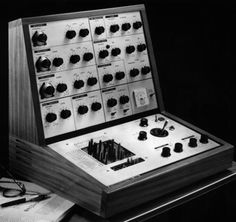 The EMS VCS3 synthesiser designed by Peter Zinovieff