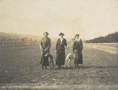 Women with Greyhounds  photographed by Dr. Sydney Pern (1910)