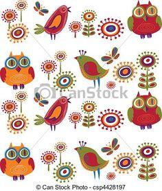 Vetor - flores, Pássaros, -, 2 - estoque de ilustração, ilustrações royalty free, banco de ícone clip arte, banco de ícones clip arte, fotos EPS, fotos, gráfico, gráficos, desenho, desenhos, imagem vetorial, arte vetor EPS.