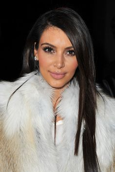 Kim Kardashian - Glossy, Straight & Long With A Deep Side-Part