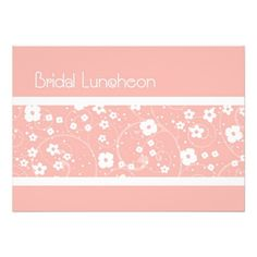 This DealsPink Flowers Bridal Luncheon Invitation CardsThis site is will advise you where to buy