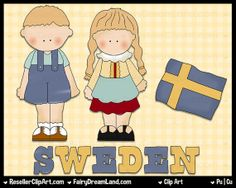 Swedish Kids Digital Clip Art Commercial Use by ResellerClipArt, $1.50