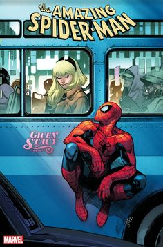 The Amazing Spider-Man - Gwen Stacy variant cover by Pepe Larraz, colours by Marte Gracia * Marvel Dc Comics, Marvel Comic Books, Marvel Art, Marvel Heroes, Comic Books Art, Marvel Avengers, Comic Art, Spiderman Marvel, Ms Marvel