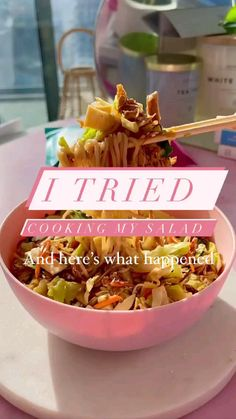 Asian Stir Fry, Stir Fry Dishes, Dinner Salads, Fries, Cooking, Breakfast, Healthy Recipes, Food, Easy