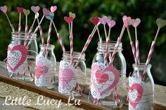 Valentine Centerpiece My Funny Valentine, Homemade Valentines, Valentines Day Decorations, Valentine Day Crafts, Valentine Ideas, Wedding Decorations, Table Decorations, Mason Jar Gifts, Mason Jars