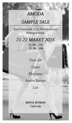 Amoda Sample Sale -- Antwerpen -- 21/03-22/03