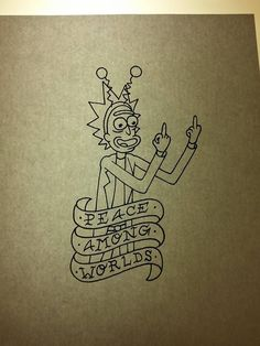 rick and morty tattoo - Google Search