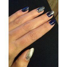 Blue nails nailart