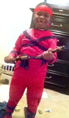 Halloween was fun. Jacob was a ninja and had a blast.