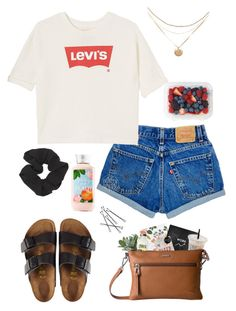"""""""Untitled #61"""" by cannjoy on Polyvore featuring Levi's, Birkenstock and Forever 21"""