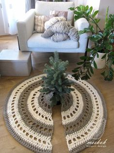 Crochet Home, Christmas Tree, Holidays, Rugs, Decoration, Home Decor, Crochet House, Teal Christmas Tree, Farmhouse Rugs